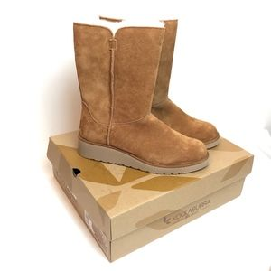 UGG Koolaburra Classic Slim Chestnut Short Boot 10